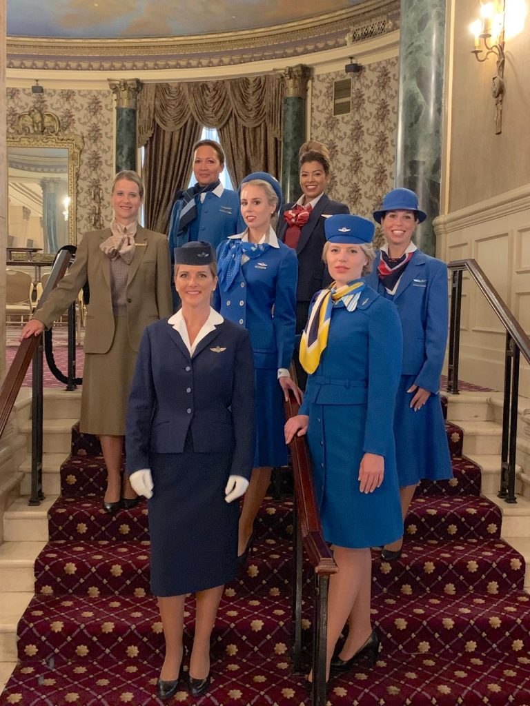 KLM organises a uniform fashion show in the sky
