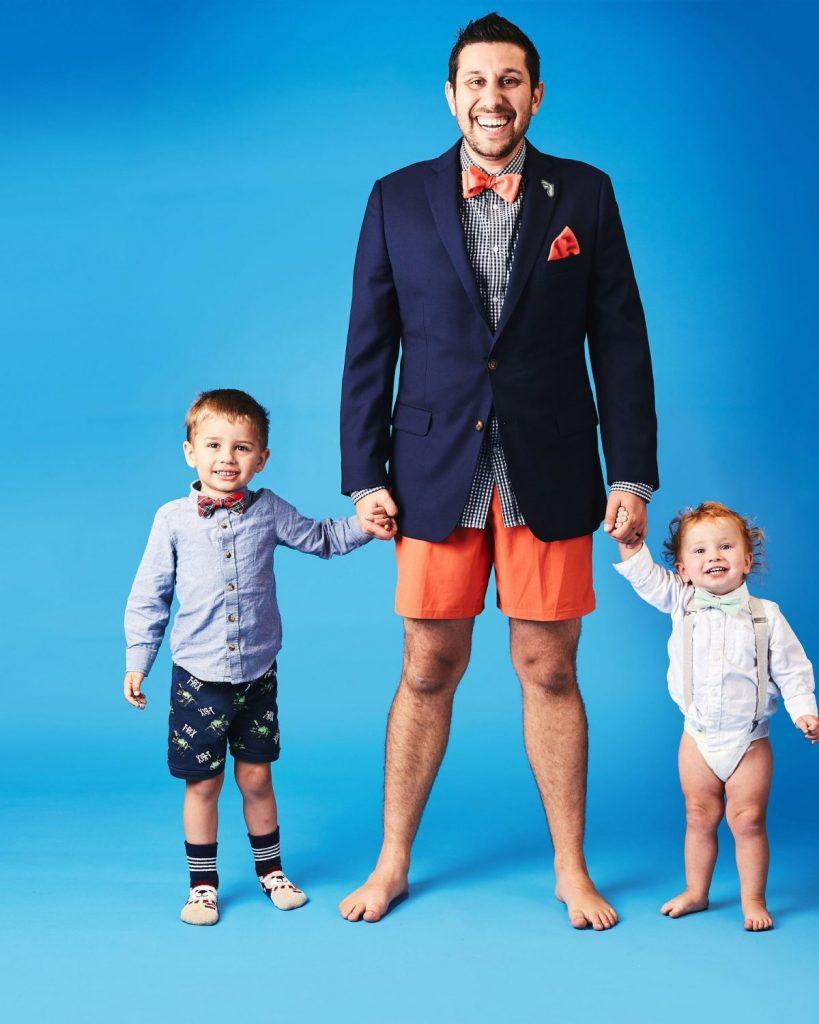 Photographer Alex Workman with his children