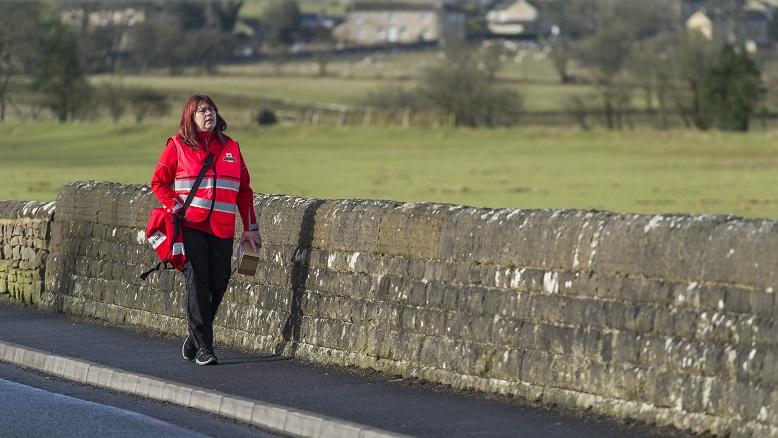 Rachel Woods wears a new uniform in Skipton