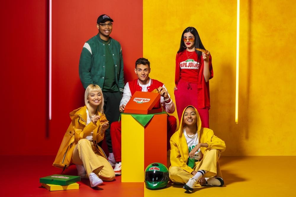 Papa John's X Cheddar: Pizza delivery-inspired clothing line